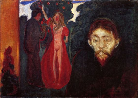 Munch, Edvard: Jealousy. Fine Art Print/Poster. Sizes: A4/A3/A2/A1 (00878)